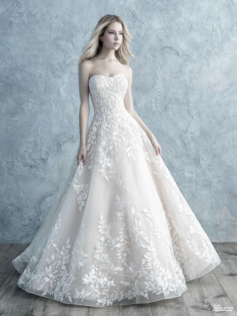 Strapless laces A-line Wedding Dress Allure 9660