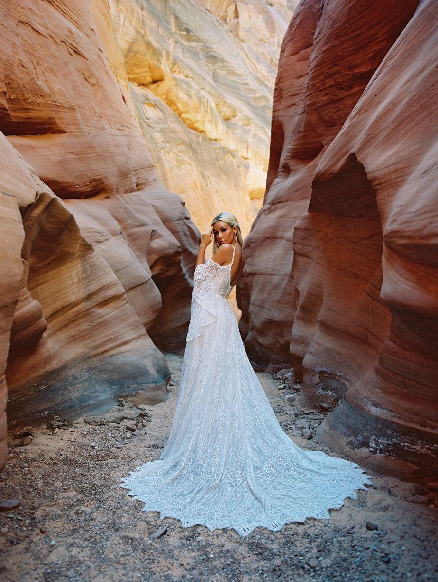 F190-Genevieve back Wilderly Bride